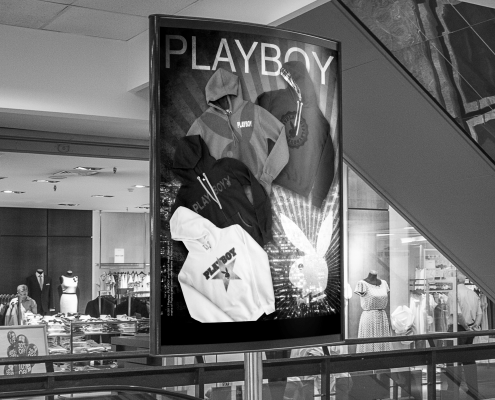 Elaborazione grafica advertising Playboy