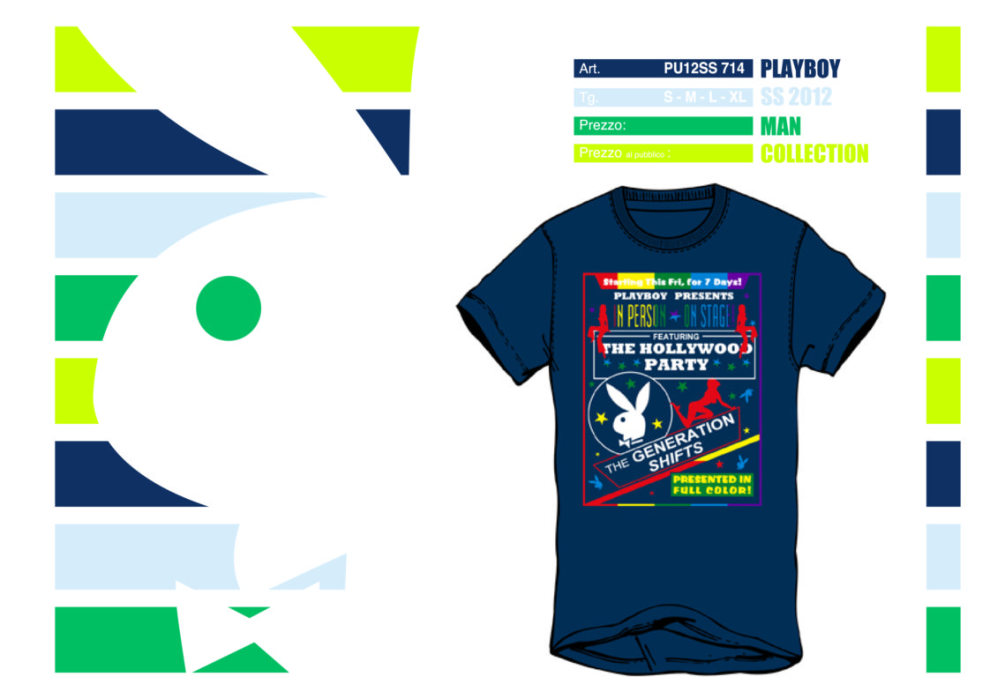 Elaborazione grafiche T-shirt e Lookbook Playboy
