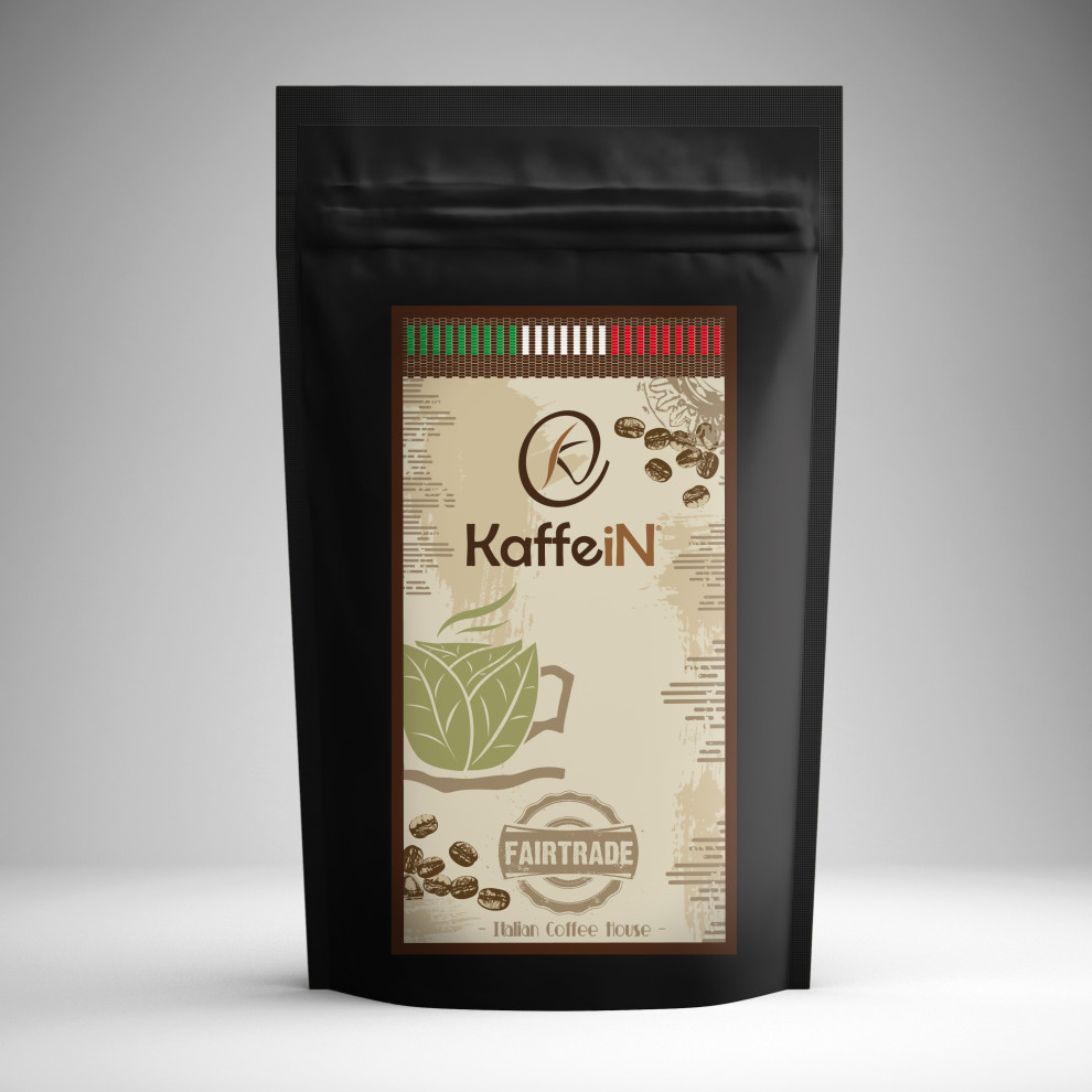 "Elaborazione grafica etichetta packaging food ""fairtrade"" KaffeiN"