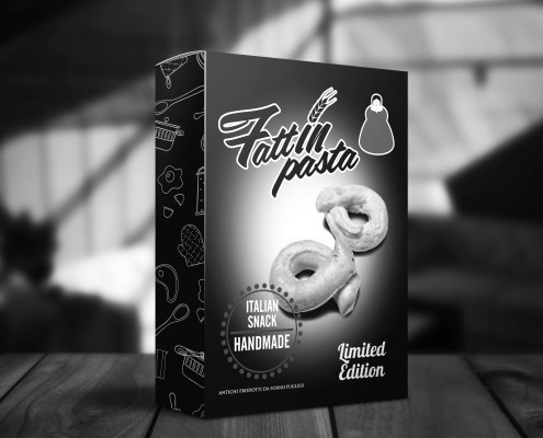 Elaborazione grafica packaging Fattinpasta